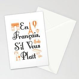 French Teacher En Francais S'il Vous Plait Stationery Cards