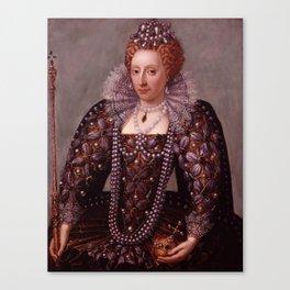 Portrait of Queen Elizabeth I Canvas Print