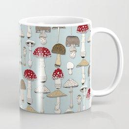 mushrooms celadon blue Coffee Mug