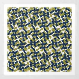 odrina (lime/navy) Art Print