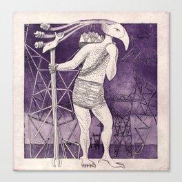 Horus Reincarnated (purple) Canvas Print