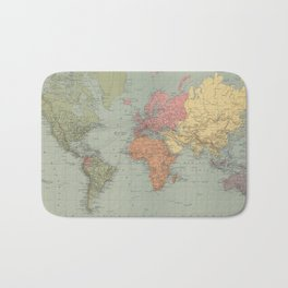 Vintage Map of The World (1889) Bath Mat