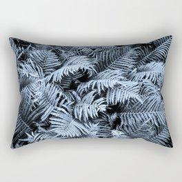 Fern | Sapphire | Deep Blue Botanical Art Rectangular Pillow
