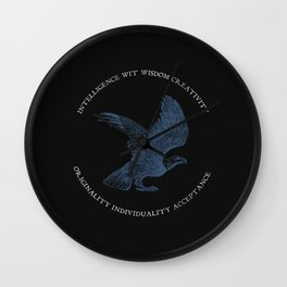 House of the Wise - Black Wall Clock
