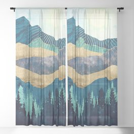 Blue Forest Sheer Curtain