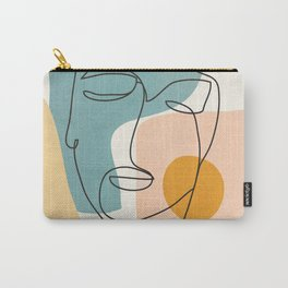Abstract Face 25 Carry-All Pouch