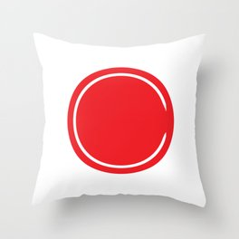Red Circle - Riverdale Throw Pillow