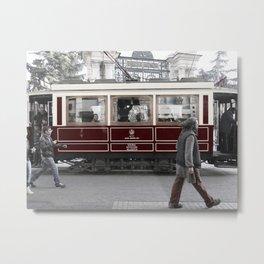 tram in İstanbul Metal Print