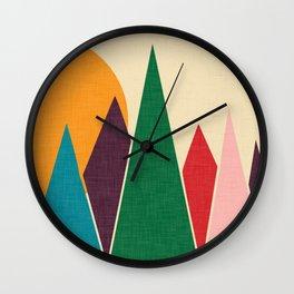 solar mountain #homedecor #midcentury Wall Clock