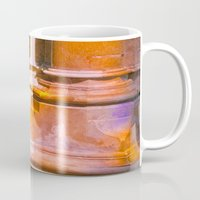 stone Mugs featuring stone by Tereza Del Pilar