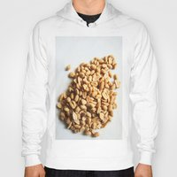 peanuts Hoodies featuring Salted Peanuts by Steve P Outram