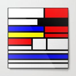 Cubism Painting Art Retro Pattern Metal Print