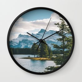 Two Jack Lake & Mt. Rundle Wall Clock