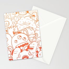 Monster crowd Stationery Cards