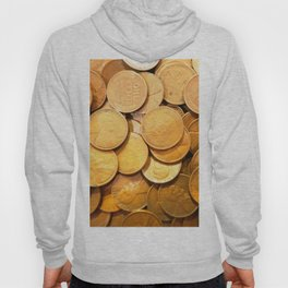 Watercolor Coins, Lincoln Wheat Pennies, 1948 01 Hoody