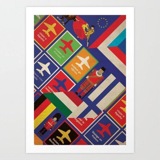 EU Travel Poster Art Print