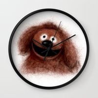 muppets Wall Clocks featuring Rowlf, The Muppets by KitschyPopShop