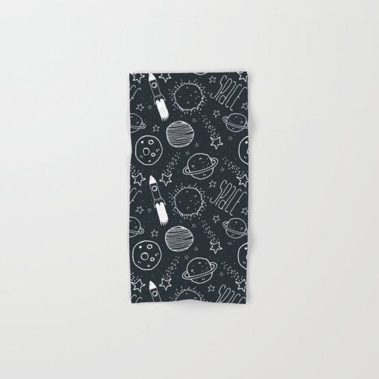 Space Doodles Hand & Bath Towel