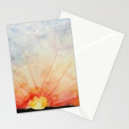 Sunset watercolor Stationery Cards