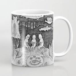 Knitting Cats Coffee Mug