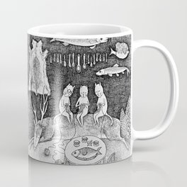 Knitting Cats Coffee Mug