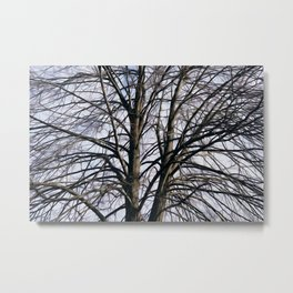 Stained Glass Tree Metal Print