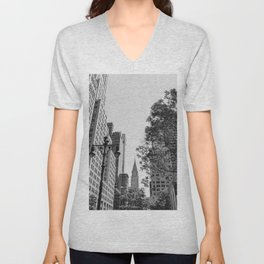 Chrysler Building Unisex V-Neck
