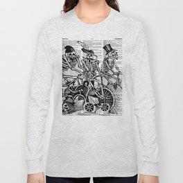 Calavera Cyclists | Black and White Long Sleeve T-shirt