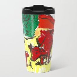 Big moo, wee moo (colored version) Metal Travel Mug