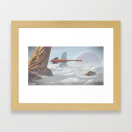 Skybarge Framed Art Print