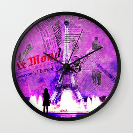 Paris News Wall Clock