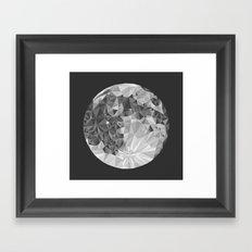 Abstract Full Moon Framed Art Print