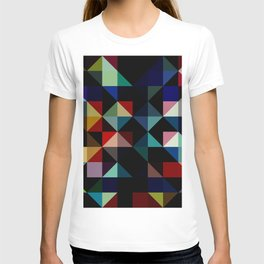 Ovinnik - Abstract Coloful Dark Diamond Shape Art T-shirt