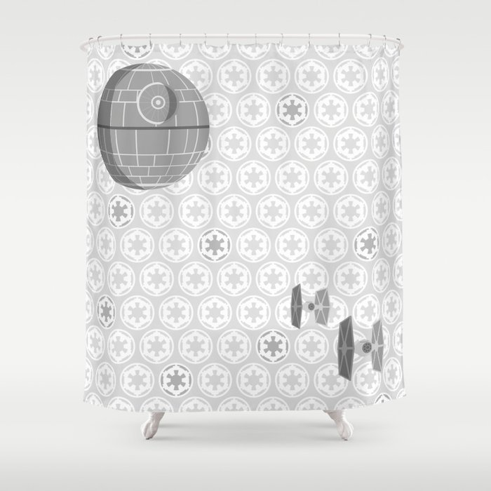 Star wars death star tie fighters and imperial crest in for Crest home designs curtains