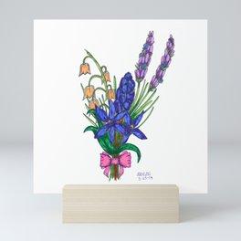 Blue Scilla and Friends Mini Art Print