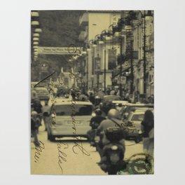 Sorrento street postcard Poster