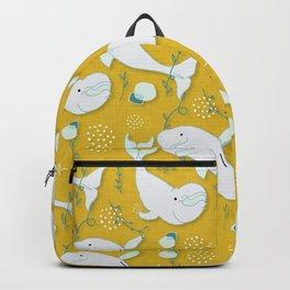 Beluga Whale Mustard #homedecor Backpack