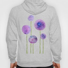 abstract purple onion flowers Hoody