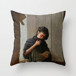 Longing (Saudade) by Almeida Junior Throw Pillow