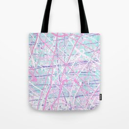 Flight of Color - pink turquoise Tote Bag