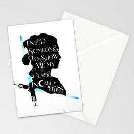 rey - light Stationery Cards