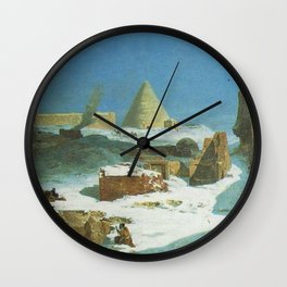 Jules Laurens - Winter in Persia Wall Clock