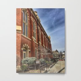 First Lutheran Church Side View in Moline, Illinois Metal Print