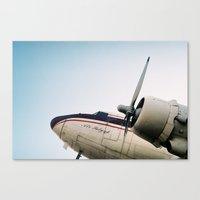 plane Canvas Prints featuring plane by denizerdem