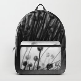 Black Lily Flowers Backpack