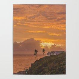 Orange Cityscape Poster