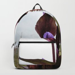 Watercolor Flower, Field Gentian 02, Northern Iceland Backpack