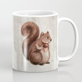 Little Squirrel, Woodland Animals, Forest Friends, Baby Animals, Children's Art Coffee Mug