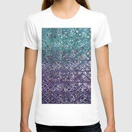 Purple Aqua MERMAID Glitter Scales Dream #2 #shiny #decor #art #society6 T-shirt