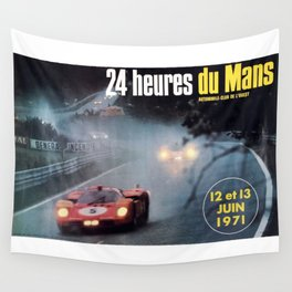 Le Mans 1972, race poster, car poster Wall Tapestry